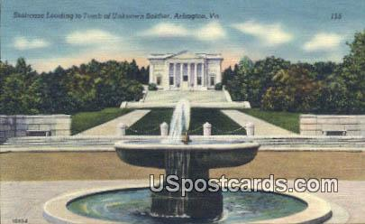 Staircase, Tomb of Unknown Soldier - Arlington, Virginia VA Postcard