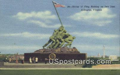 Statue of Flag Raising, Iwo Jima - Arlington, Virginia VA Postcard