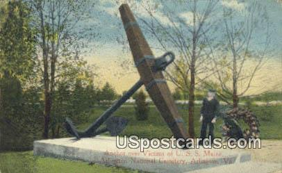 Anchor, USS Maine - Arlington, Virginia VA Postcard