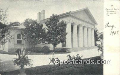 General Lee's Mansion - Arlington, Virginia VA Postcard