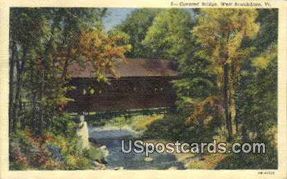 Covered Bridge - West Brattleboro, Virginia VA Postcard