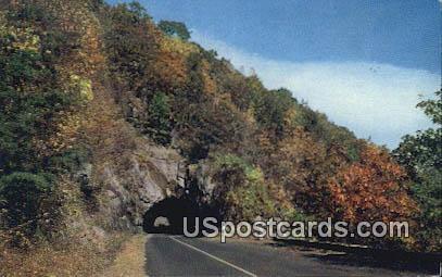 Famous Tunnel - Shenandoah National Park, Virginia VA Postcard
