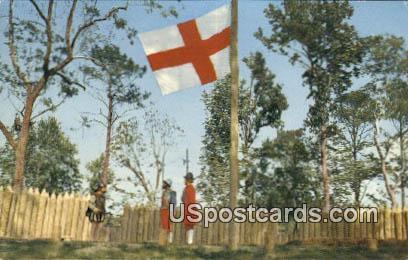 James Fort - Jamestown Park, Virginia VA Postcard
