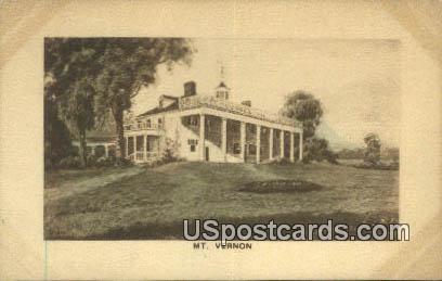 Mt Vernon, Virginia Postcard     ;       Mt Vernon, VA