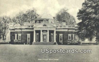 Monticello, West Front - Charlottesville, Virginia VA Postcard