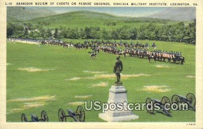 Garrison Review, Virginia Military Institute - Lexington Postcard