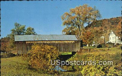 Howe Covered Bridge1879 - Tunbridge, Virginia VA Postcard