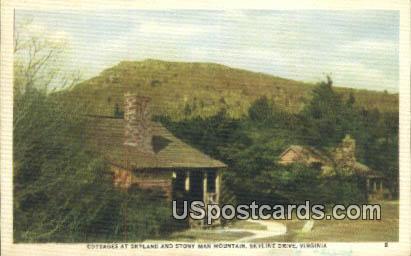 Cottages, Stony Man Mountain - Skyline Drive, Virginia VA Postcard