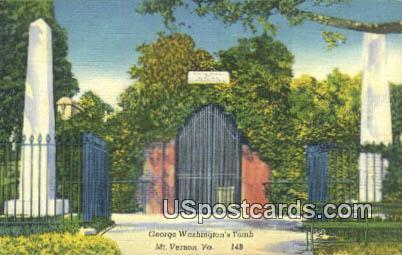George Washington's Tomb - Mount Vernon, Virginia VA Postcard