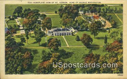 Home of George Washington - Mount Vernon, Virginia VA Postcard