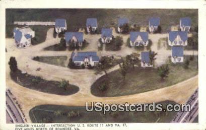 English Village - Roanoke, Virginia VA Postcard