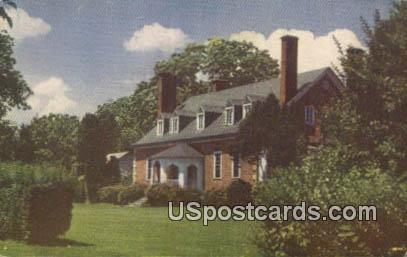 Gunston Hall on the Potomac 1755 - Misc, Virginia VA Postcard
