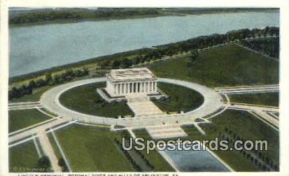 Lincoln Memorial - Arlington, Virginia VA Postcard