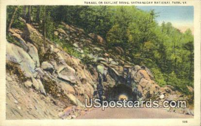 Tunnel, Skyline Drive - Shenandoah National Park, Virginia VA Postcard