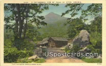 Peaks of Otter, Virginia Postcard     ;       Peaks of Otter, VA