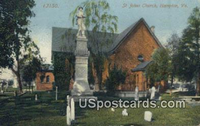 St John's Church - Hampton, Virginia VA Postcard