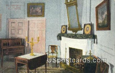 Mrs Washington's Sitting Room - Mount Vernon, Virginia VA Postcard