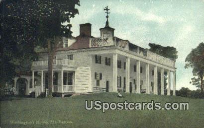 Washington's Home - Mount Vernon, Virginia VA Postcard