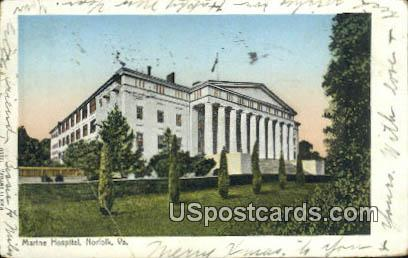 Marine Hospital - Norfolk, Virginia VA Postcard