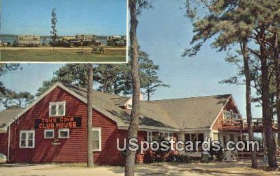 Club House, Tom's Cove Campground - Misc, Virginia VA Postcard