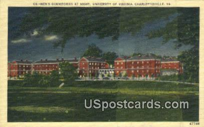 Men's Dormitories, University of Virginia - Charlottesville Postcard