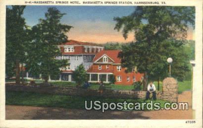 Massanetta Springs Hotel - Harrisonburg, Virginia VA Postcard
