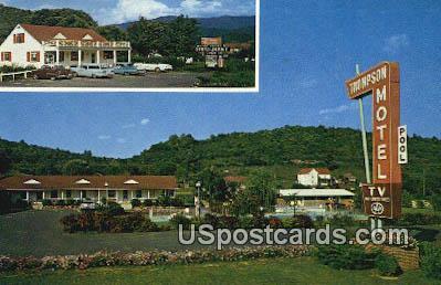 Thompson Motel & Fort Vause Restaurant - Roanoke, Virginia VA Postcard