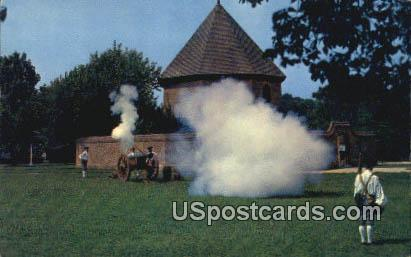 Magazine & Guardhouse - Colonial Williamsburg, Virginia VA Postcard