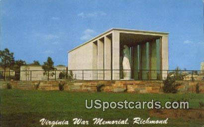 Virginia War Memorial - Richmond Postcard