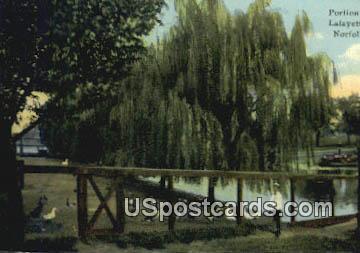 Portion of Zoo, Lafayette Park - Norfolk, Virginia VA Postcard