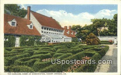 Gardens, Home of Washington - Mount Vernon, Virginia VA Postcard