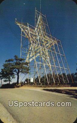 Man Made Star, Mill Mountain - Roanoke, Virginia VA Postcard