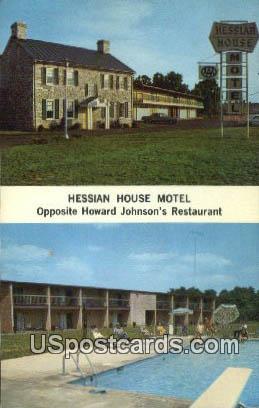 Hessian House Motel - Staunton, Virginia VA Postcard