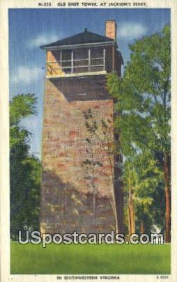 Old Shot Tower - Southwestern Virginia Postcards, Virginia VA Postcard