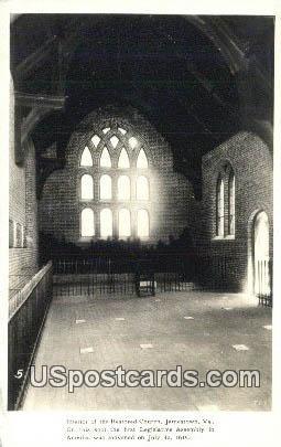 Restored Church - Jamestown, Virginia VA Postcard