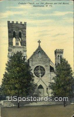 Catholic Church - Huntington, Virginia VA Postcard