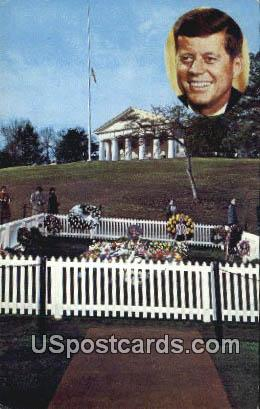Grave of John F Kennedy, 35th President - Arlington, Virginia VA Postcard