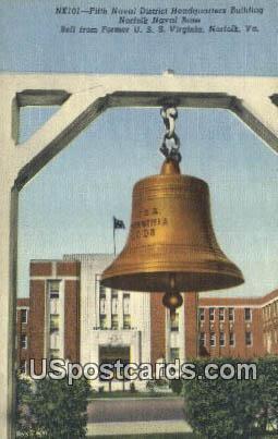 Fifth Naval District Headquarters Building - Norfolk, Virginia VA Postcard