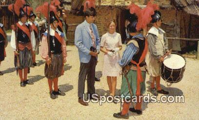 Muster of Halberdiers - Jamestown, Virginia VA Postcard