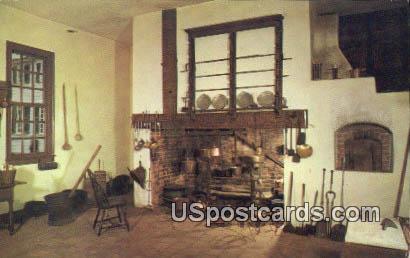 Family Kitchen - Mount Vernon, Virginia VA Postcard