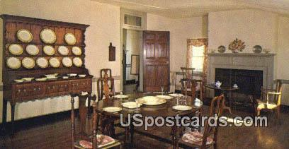 Dining Room, Mary Washington House - Fredericksburg, Virginia VA Postcard