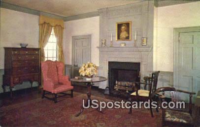 Drawing Room, Mary Washington House - Fredericksburg, Virginia VA Postcard