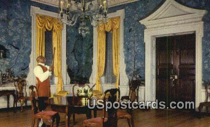 Supper Room, Governor's Palace - Misc, Virginia VA Postcard