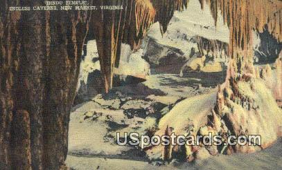 Hindu Temple, Endless Caverns - New Market, Virginia VA Postcard