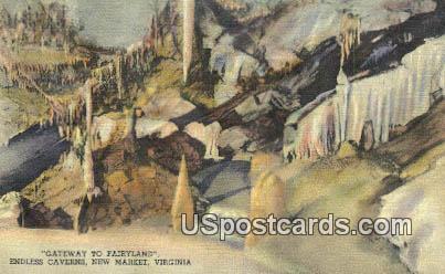 Gateway to Fairyland, Endless Caverns - New Market, Virginia VA Postcard