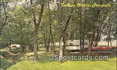 Falling Waters Campsite - Virginia VA Postcard