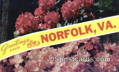 Norfolk, VA Postcard       ;         Norfolk, Virginia