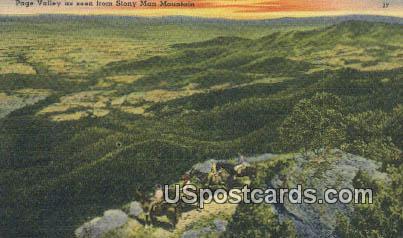 Page Valley - Stony Man Mountain, Virginia VA Postcard