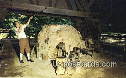 Glassblower, Jamestown Glasshouse - Virginia VA Postcard