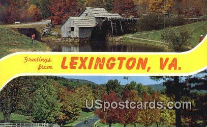 Lexington, Virginia Postcard     ;       Lexington, VA